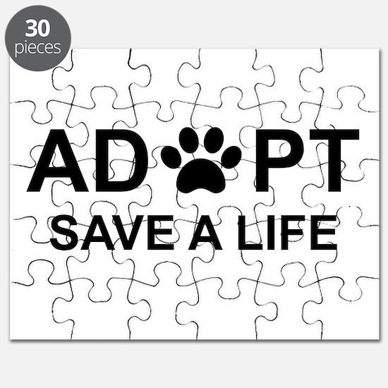 Save a life adopt a pet adoption animal rescue Puzzle