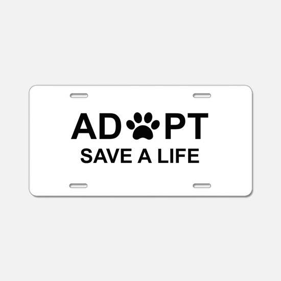 Dog adopt Aluminum License Plate
