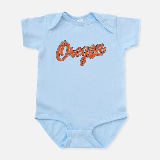 Oregon Script Font Orange Body Suit