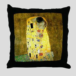 The Kiss Gustav Klimt Throw Pillow