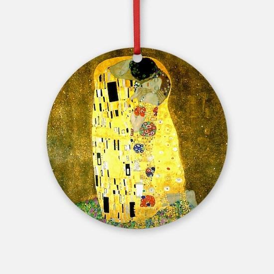 The Kiss Gustav Klimt Round Ornament