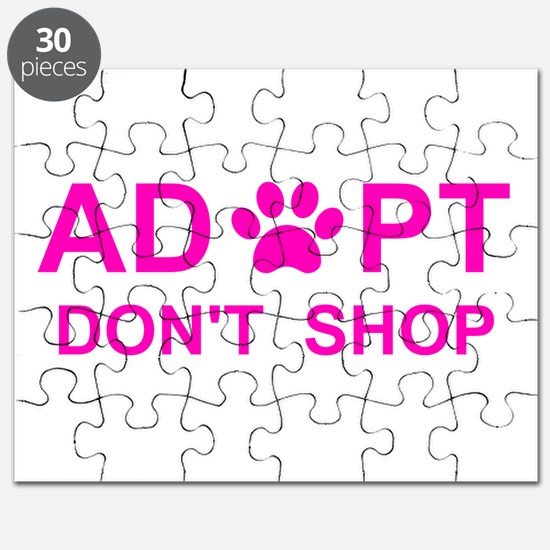 Cute Save a life adopt a pet adoption animal rescue Puzzle