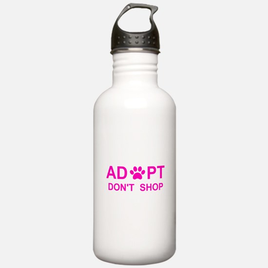 Funny Shelter rescue dogs Water Bottle