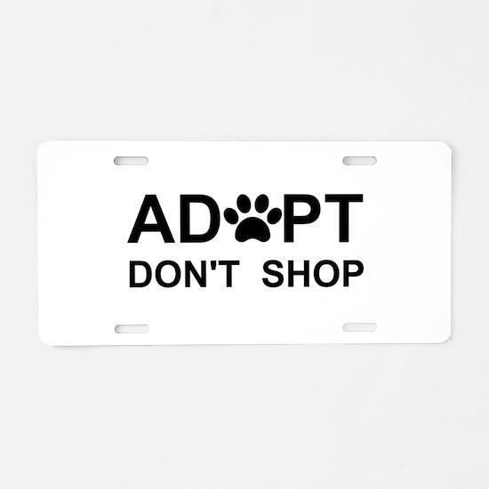 Cool Adopt Aluminum License Plate