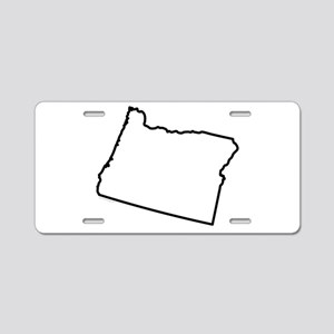 Oregon State Outline Aluminum License Plate