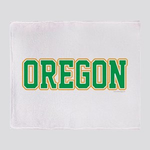 Oregon Jersey Green Throw Blanket
