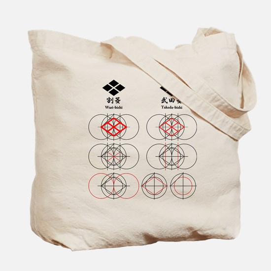 Divided rhombus Tote Bag