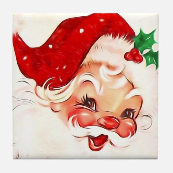 Cute Santa claus Tile Coaster