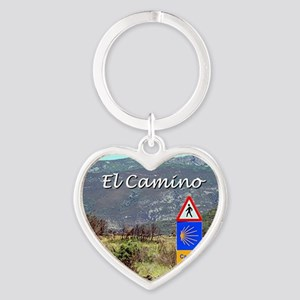 El Camino sign, Spain (caption) Keychains