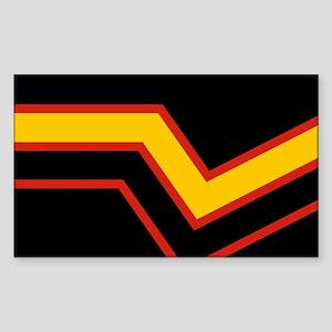 Rubber Pride Flag Sticker (Rectangle)