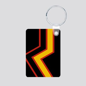 Rubber Pride Flag Aluminum Photo Keychain
