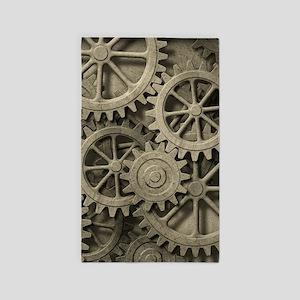Steampunk Cogwheels Area Rug