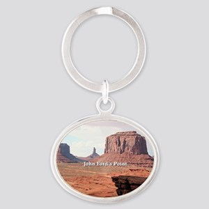 John Ford's Point, Monument Valley,  Oval Keychain