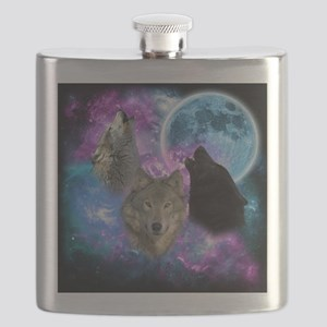 Wolves Mystical Night Flask
