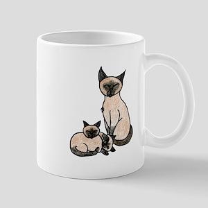 Sleepy Siamese Mugs