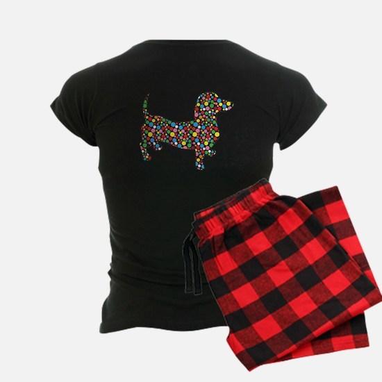 Psychadelic Zebra Dachshund Pajamas