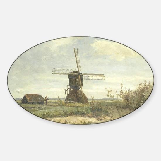 Sunny Day - Paul J C Gabriel Sticker (Oval)