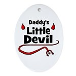 Daddy's Little Devil Oval Ornament