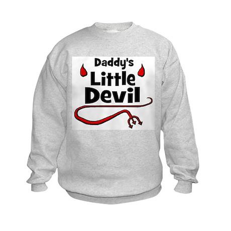 Daddy's Little Devil Kids Sweatshirt