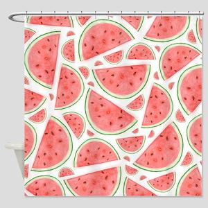 Watercolour Watermelon, Shower Curtain