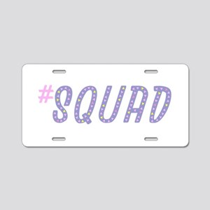 #Squad Aluminum License Plate
