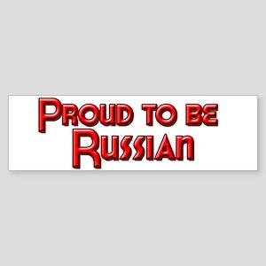 Proud to be Russian Bumper Sticker
