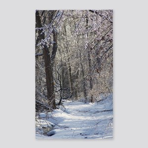 Icy Snow Trail Area Rug