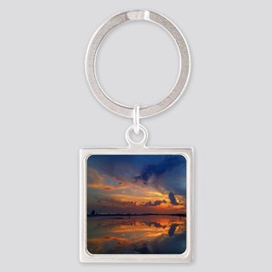 Siesta Key Sunset Square Keychain