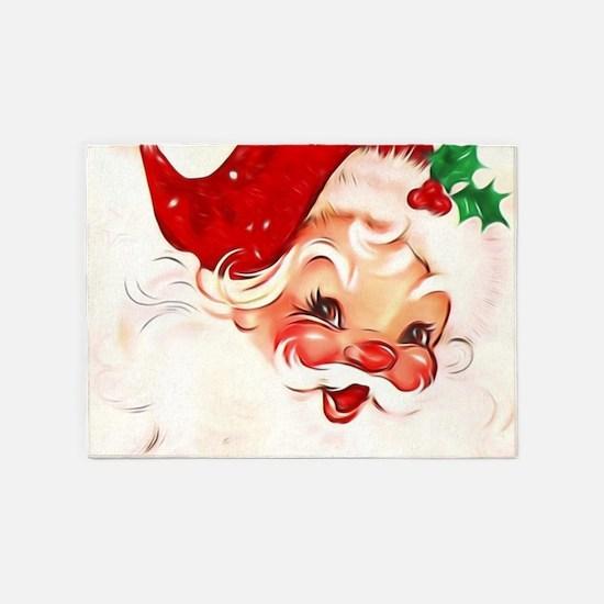 Vintage Santa 4 5'x7'Area Rug