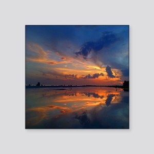 "Siesta Key Sunset Square Sticker 3"" x 3"""