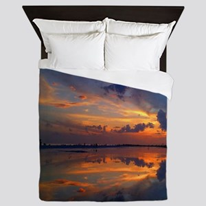 Siesta Key Sunset Queen Duvet