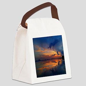 Siesta Key Sunset Canvas Lunch Bag
