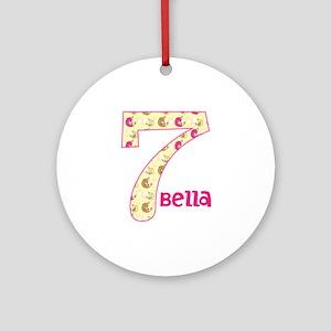 7th Birthday Pesonalized Round Ornament