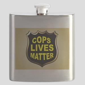 COPS LIVES MATTER Flask