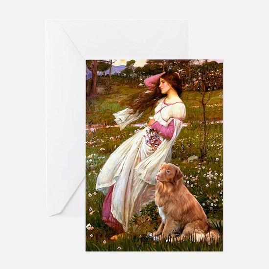Wind Flowers & Nova Scotia Greeting Card