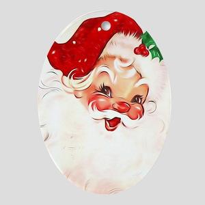 Vintage Santa 4 Oval Ornament