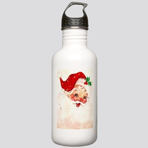 Vintage Santa 4 Water Bottle