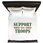 Support Our Troops King Duvet