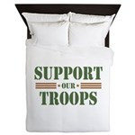 Support Our Troops Queen Duvet