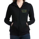 Support Our Troops Women's Zip Hoodie