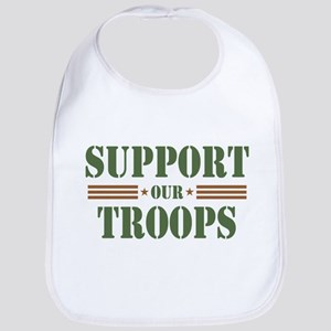 Support Our Troops Bib