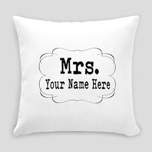 Wedding Mrs. Everyday Pillow
