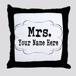 Wedding Mrs. Throw Pillow