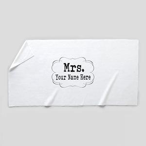 Wedding Mrs. Beach Towel
