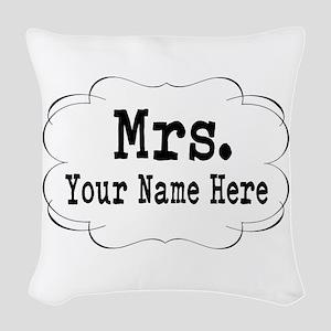 Wedding Mrs. Woven Throw Pillow