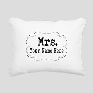 Wedding Mrs. Rectangular Canvas Pillow