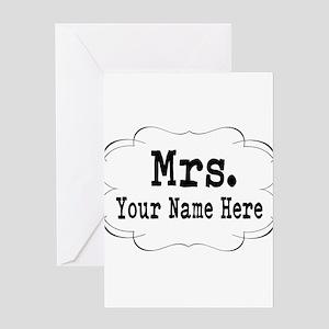 Wedding Mrs. Greeting Cards