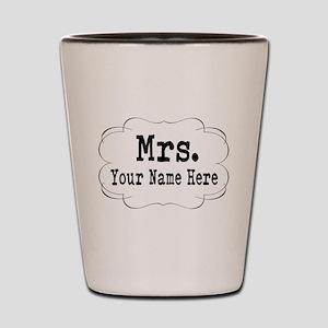 Wedding Mrs. Shot Glass