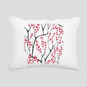 Cherry Tree Rectangular Canvas Pillow
