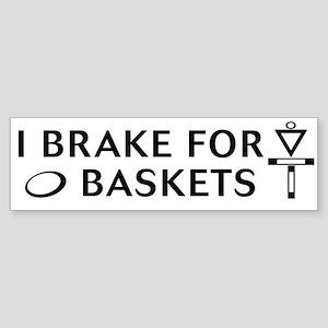 brake 4 bask blk on wt Bumper Sticker